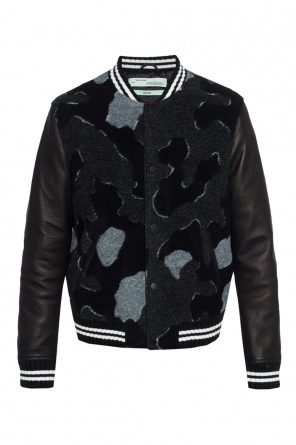 Printed camo bomber jacket od Off White