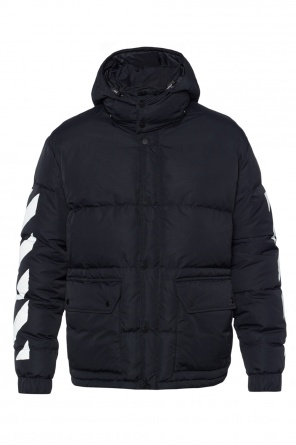 Quilted jacket with detachable hood od Off White