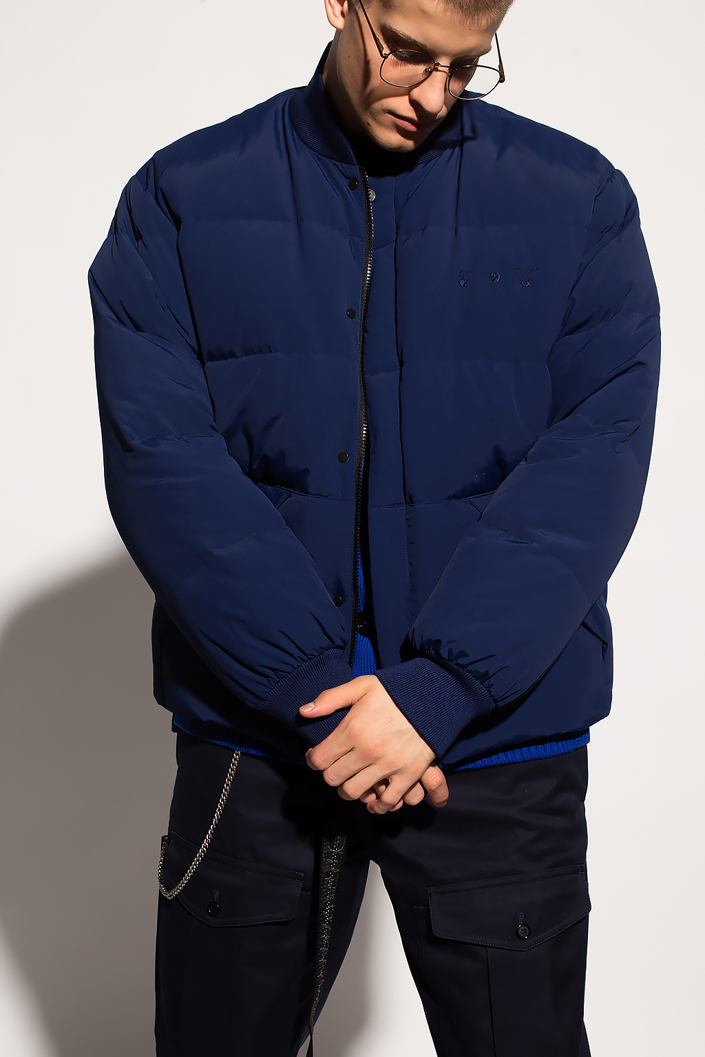 Off-White Down jacket with logo