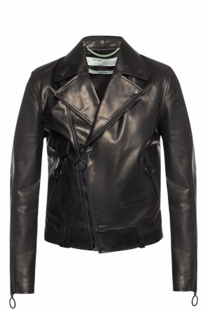 Leather biker jacket od Off White