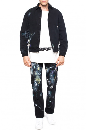 Paint-splattered denim jacket od Off White