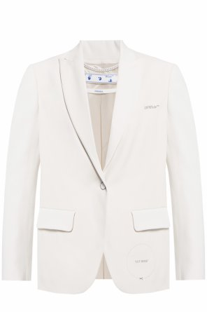Blazer with logo od Off White