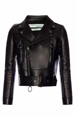 ea4554fcdef5 ... Biker jacket with logo od Off White