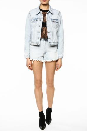 Distressed denim jacket od Off White