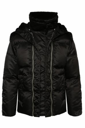'pax' hooded down jacket od AllSaints