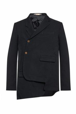 Asymmetrical blazer with cut-out details od Comme des Garcons Homme Plus