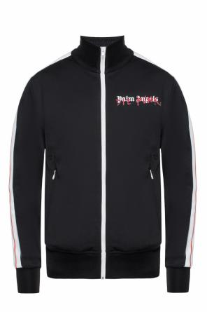 Branded track jacket with band collar od Palm Angels