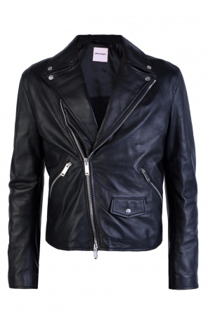 Appliqued biker jacket od Palm Angels