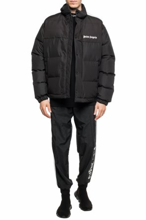Quilted down jacket with logo od Palm Angels