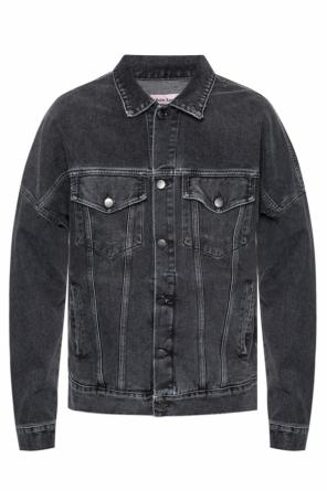 Raw-trimmed denim jacket od Palm Angels