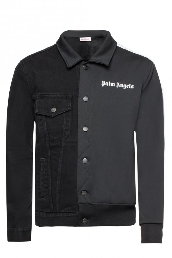Palm Angels Denim jacket with sweatshirt effect