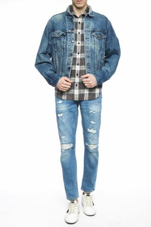 Denim jacket with patch od R13