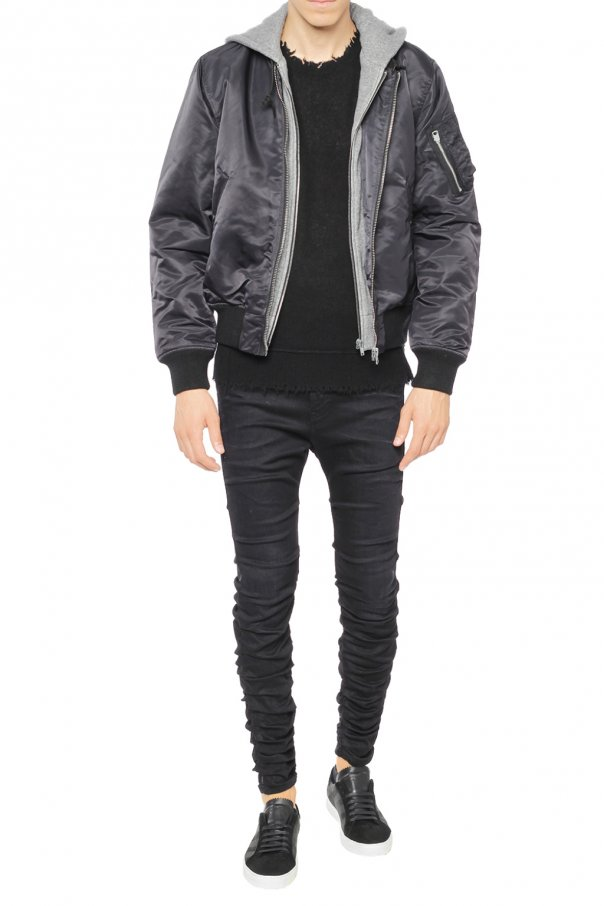 Hooded bomber jacket od R13