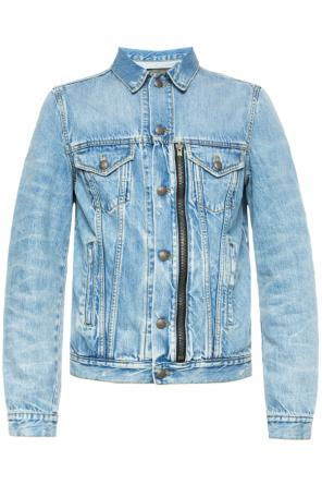 Denim jacket with sewn zip od R13