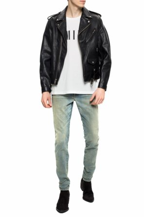 Leather biker jacket od R13
