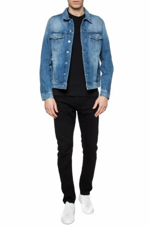 Logo-embroidered denim jacket od Balmain