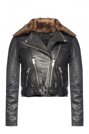 'rigby' leather jacket od AllSaints