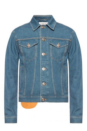 Denim jacket with logo od Lanvin