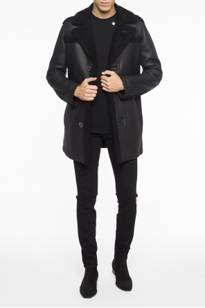 Single-vented shearling jacket od Lanvin
