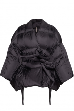 Quilted coat with tie detail od Rick Owens