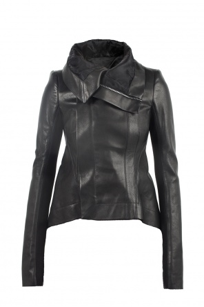 Asymmetric leather jacket od Rick Owens