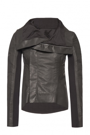 Asymmetrical jacket with collar od Rick Owens