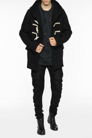 Coat with decorative closure od Rick Owens