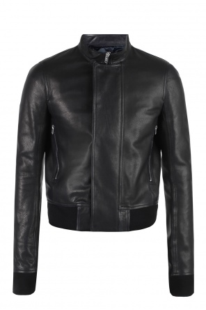 Band collar jacket od Rick Owens
