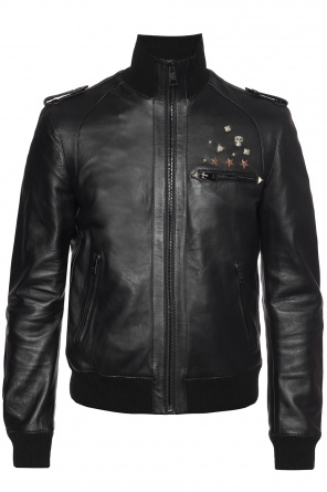 Studded leather jacket od Just Cavalli