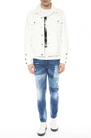 Distressed denim jacket od Just Cavalli