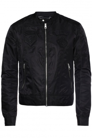 Patched jacket od Just Cavalli