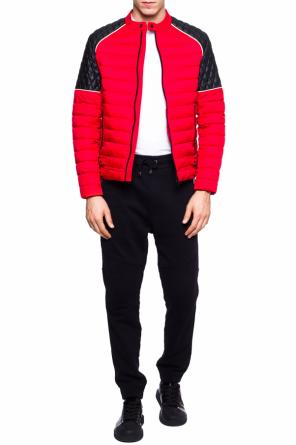 Quilted jacket with band collar od Just Cavalli