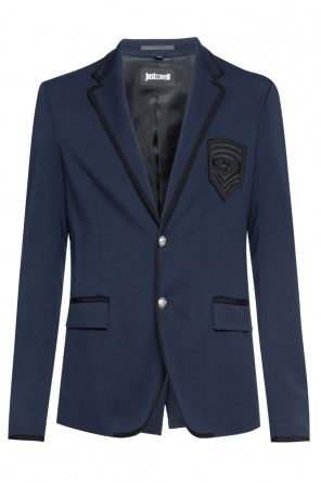 Grosgrain-trim blazer od Just Cavalli