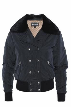 Jacket with detachable fur collar od Just Cavalli