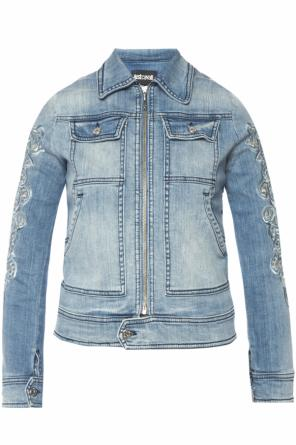 Openwork denim jacket od Just Cavalli