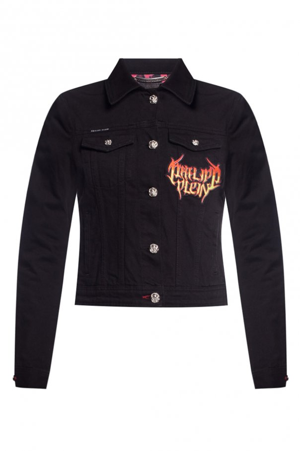 Philipp Plein Denim jacket with logo