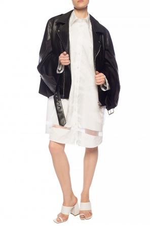 Leather jacket with decorative sleeves od Maison Margiela