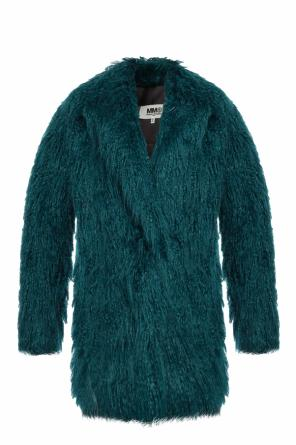 Fur-trimmed coat od MM6 Maison Margiela