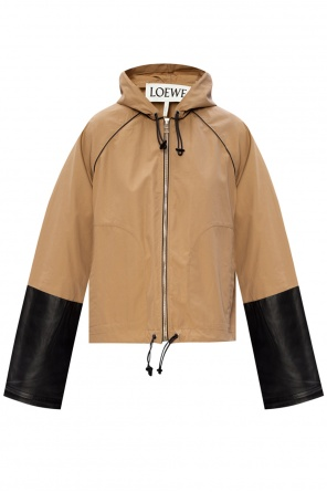 Jacket with leather inserts od Loewe