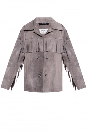 Suede jacket with fringes od Maison Margiela