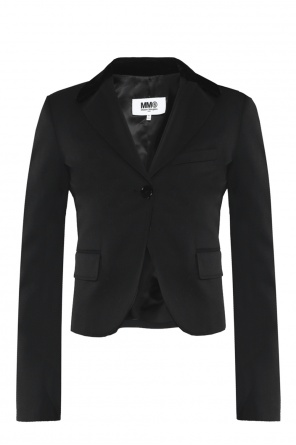 Blazer with velvet lapels od MM6 Maison Margiela