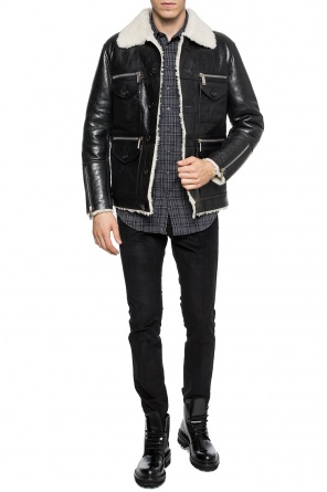 Fur-trimmed jacket od Dsquared2
