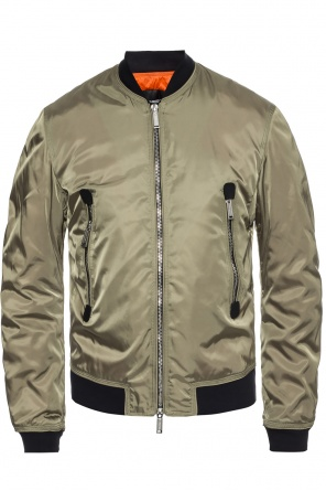 Down 'bomber' jacket with a sewn on logo od Dsquared2