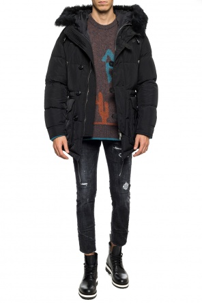 Fur-trimmed down jacket od Dsquared2
