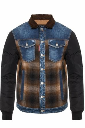 Jacket with denim inserts od Dsquared2