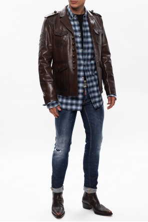 Leather jacket od Dsquared2