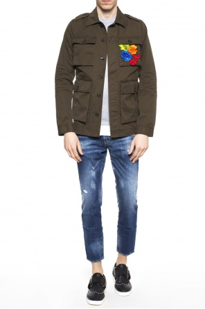 Appliquéd jacket od Dsquared2