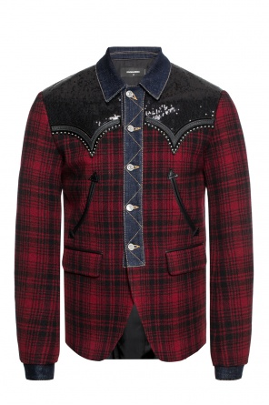 Patterned blazer with decorative elements od Dsquared2