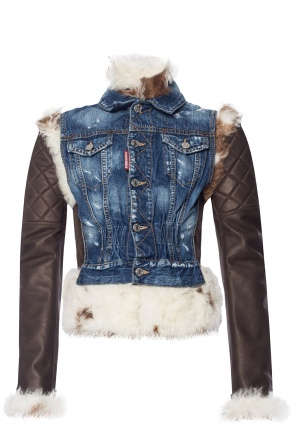 Fur denim jacket od Dsquared2