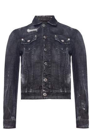 Denim jacket with a printed logo od Dsquared2